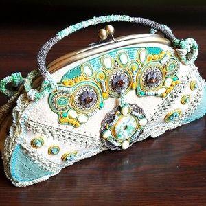 Mary Frances Designer Semi-precious Beaded Handbag